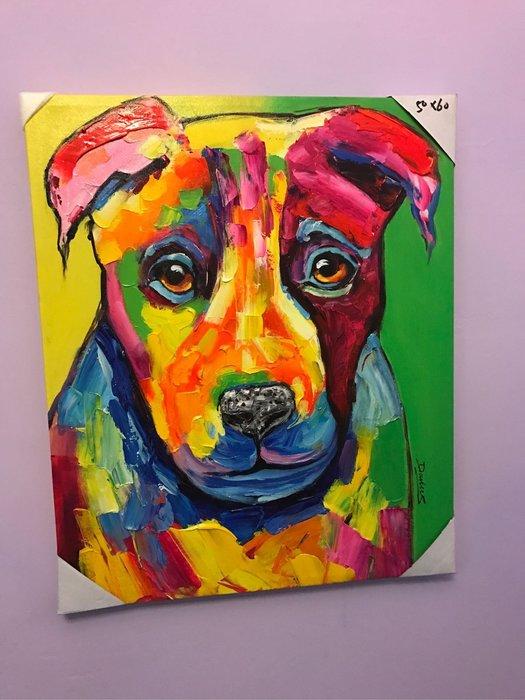 狗來富 手工藝術立體掛畫