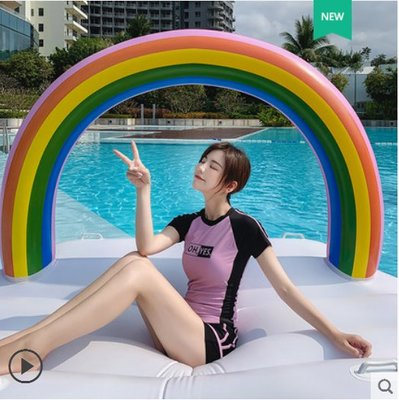 現貨五折促銷 泳衣女新款分體保守顯瘦遮肚平角運動款學生大碼泳裝溫泉 運動平角泳裝 泡湯 泡溫泉 運動服
