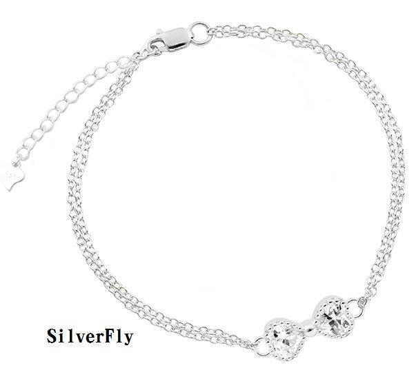 心心相印腳鍊-白石《 SilverFly銀火蟲銀飾 》