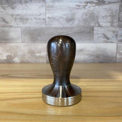 卡拉拉咖啡精品 黑檀木填壓器 咖啡填壓器 temper C-ripple 58mm