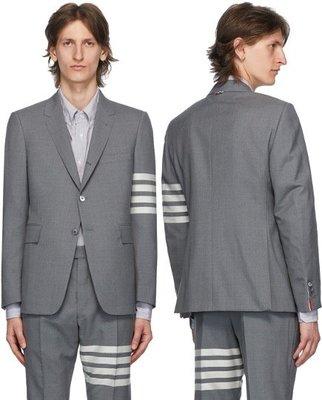 THOM BROWNE Grey 4-Bar Classic Sport Coat