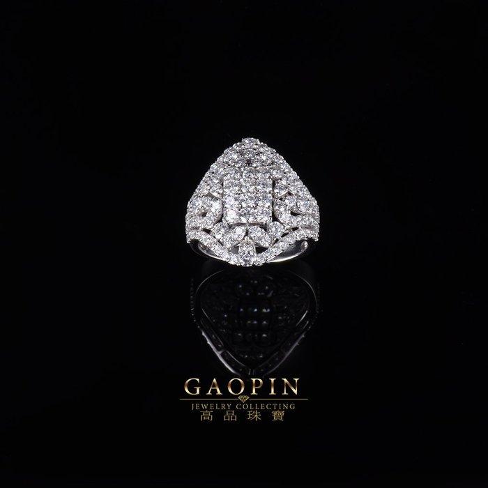 【高品珠寶】設計款《氣質方鑽》鑽石戒指 求婚戒指 訂婚戒指 情人節禮物  生日禮物 拚鑽 #3577
