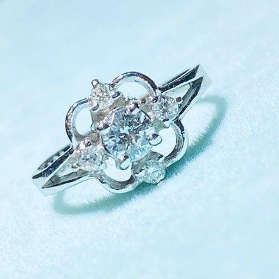 幸運求婚戒~天然鑽石21分G/VVS1/14K配鑽16粉鑽戒#10~附GIA和蓁鑽石鑑定書~虧本結緣