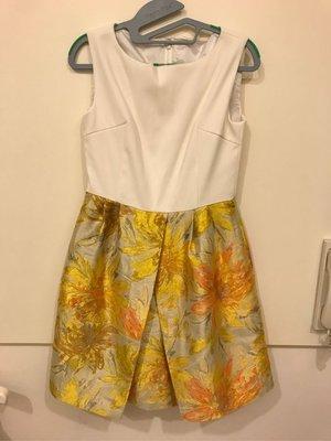 日本名牌chesty緞面刺繡洋裝
