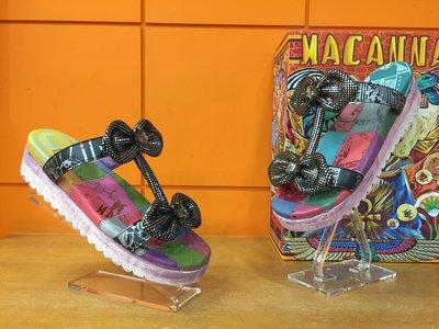 【阿典鞋店】** Macanna**麥坎納專櫃~萊茵河系列2~蝴蝶寶石特殊黃牛皮+羊皮氣墊鞋63003F