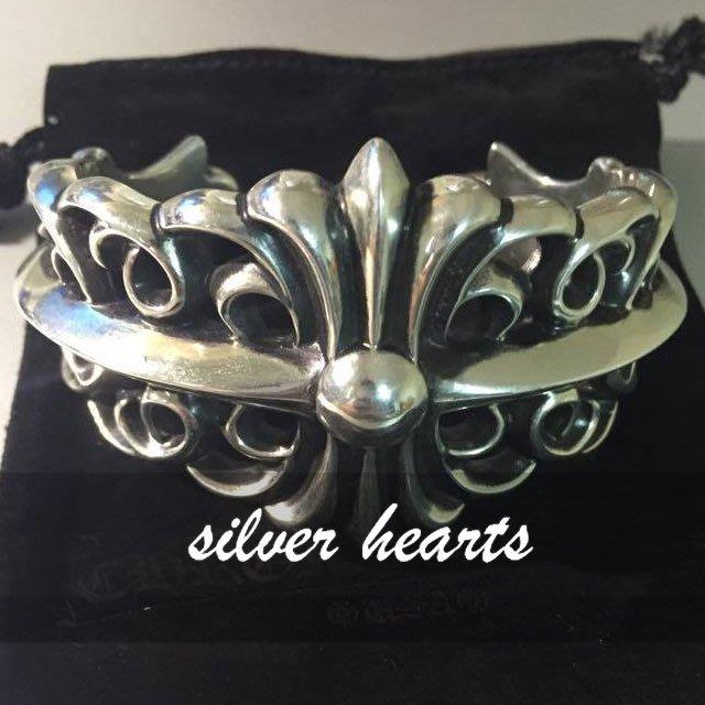 【SILVER HEARTS】Goro's Chrome Hearts 克羅心 十字架花紋 純銀手環 手鐲 手鍊