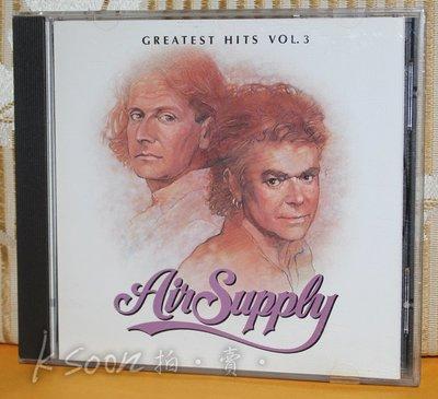 AIR SUPPLY-GREATEST HITS VOL.3,1988年,台灣製造,無IFPI,ARISTA,BMG唱片