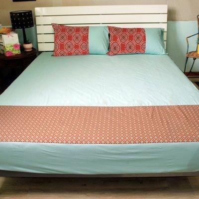 《特價品》-麗塔LITA- 純棉【忘憂森林】雙人床包枕套三件組