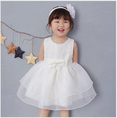 [現貨][a0036]韓版女寶寶裙子新生兒滿月百天嬰兒禮服周歲公主裙寶寶連衣裙(3碼)(0-3個月)