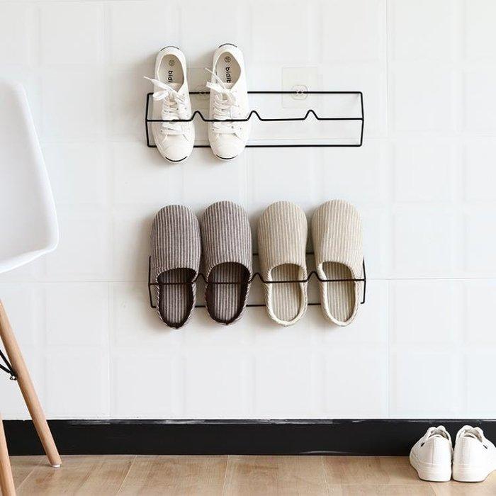 浴室拖鞋架牆壁掛式免打孔衛生間門後置物架家用
