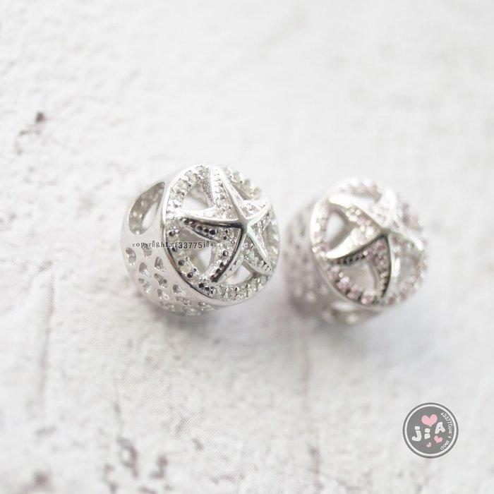 【Jia' s】滿鑽海星潘潘純銀串珠單珠單墜S925。正生純銀