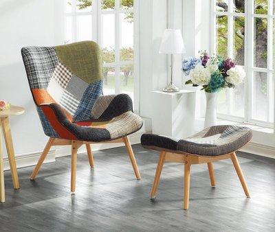 【DH】商品編號AB259-2商品名稱拼布休閒椅+腳椅/休閒椅組。細膩優質。主要地區免運費