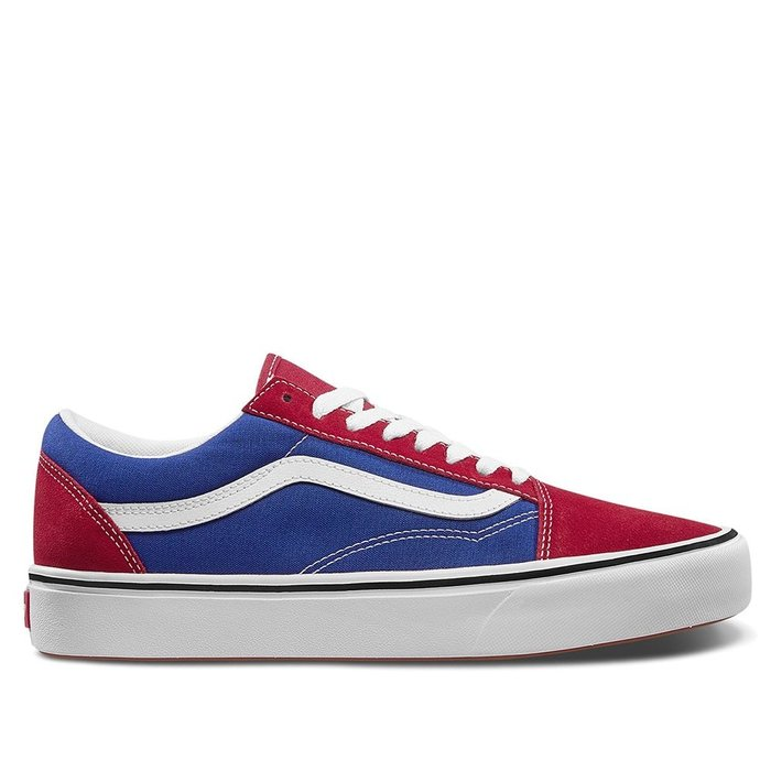 【A-KAY0】VANS OLD SKOOL TRUE BLUE 麂皮X帆布 藍紅【VN0A3WMAVX1】
