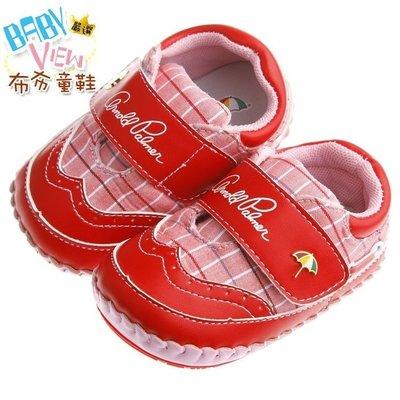 布布童鞋 ArnoldPalmer雨傘牌潮流格紋紅色寶寶學步鞋 [ MAK252A ] 紅色款【13~15.5cm】 新北市