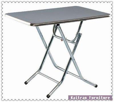 ☆ 凱創家居館 ☆《C001-77-06 電鍍腳折合餐桌【白鐵面】 》不鏽鋼餐桌-不鏽鋼圓桌