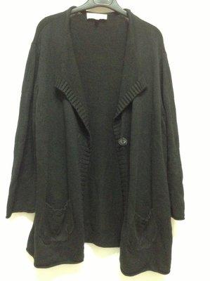 jones new york 大尺碼黑色長袖彈性外套  XL 號