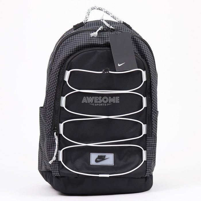 [歐鉉]NIKE HAYWARD BACKPACK 黑格紋 拼接 筆電包 雙肩包 後背包 CV1412-010