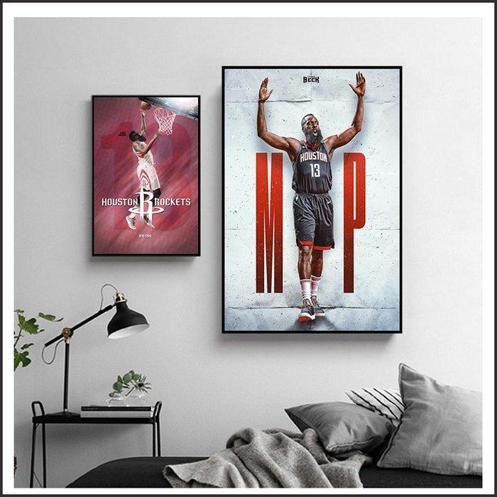 日本製畫布海報 NBA 哈登 James Harden 嵌框畫 掛畫 裝飾畫 @Movie PoP #