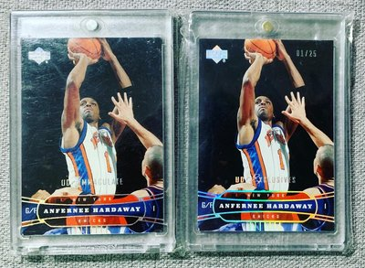 Anfernee Hardaway 03-04 UD Exclusives Platinum & immaculate