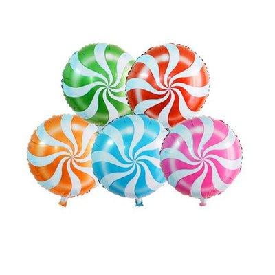 鋁箔氣球批發18吋圓形風車棒棒糖圖案氣球園遊會班級聚會畢業結業式聖誕節萬聖節生日慶生派對活動開幕周年慶布置拍照道具