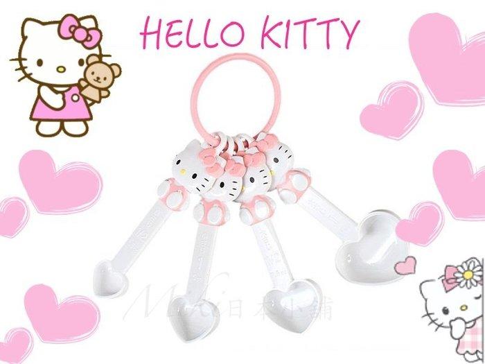 *Miki 日本小鋪*日本三麗鷗 kitty凱蒂貓 粉色愛心造型量匙