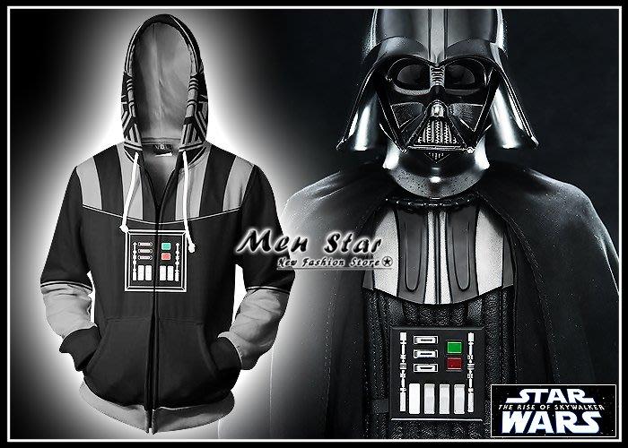 【Men Star】免運費 STAR WARS 天行者的崛起 彈力運動外套 連帽外套 九部曲 路克天行者 角色服裝 道具