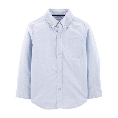 【Carter's】CS男童長襯水藍白直條 F03191003-31