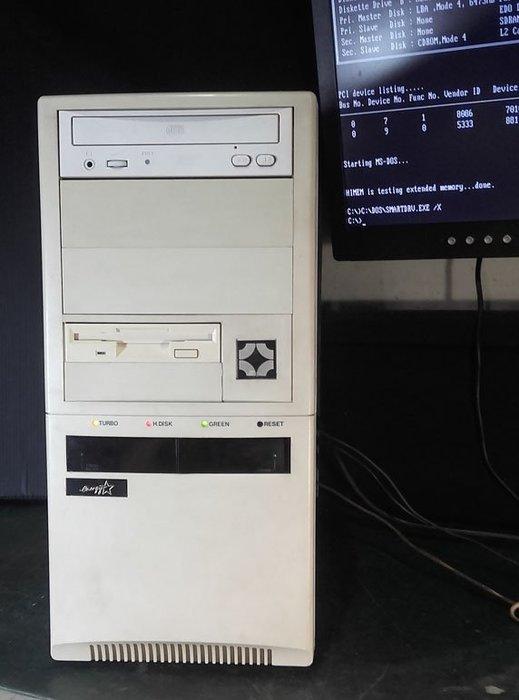 【窮人電腦】跑DOS系統!自組技嘉586工業主機出清!桃園雙北免費運送!外縣可寄!