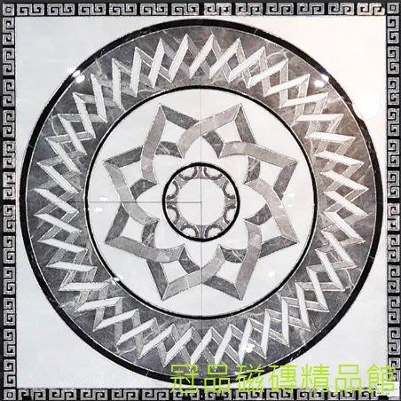 ◎冠品磁磚精品館◎進口精品 玄關拋晶鈦金石英花磚(四片一組) -120X120CM