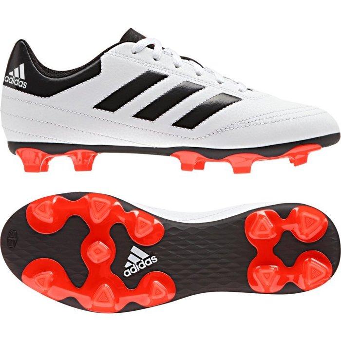 運動GO~ 愛迪達 adidas 足球鞋 室外 膠釘 Soccer Football 童鞋 女 白黑 AQ4286