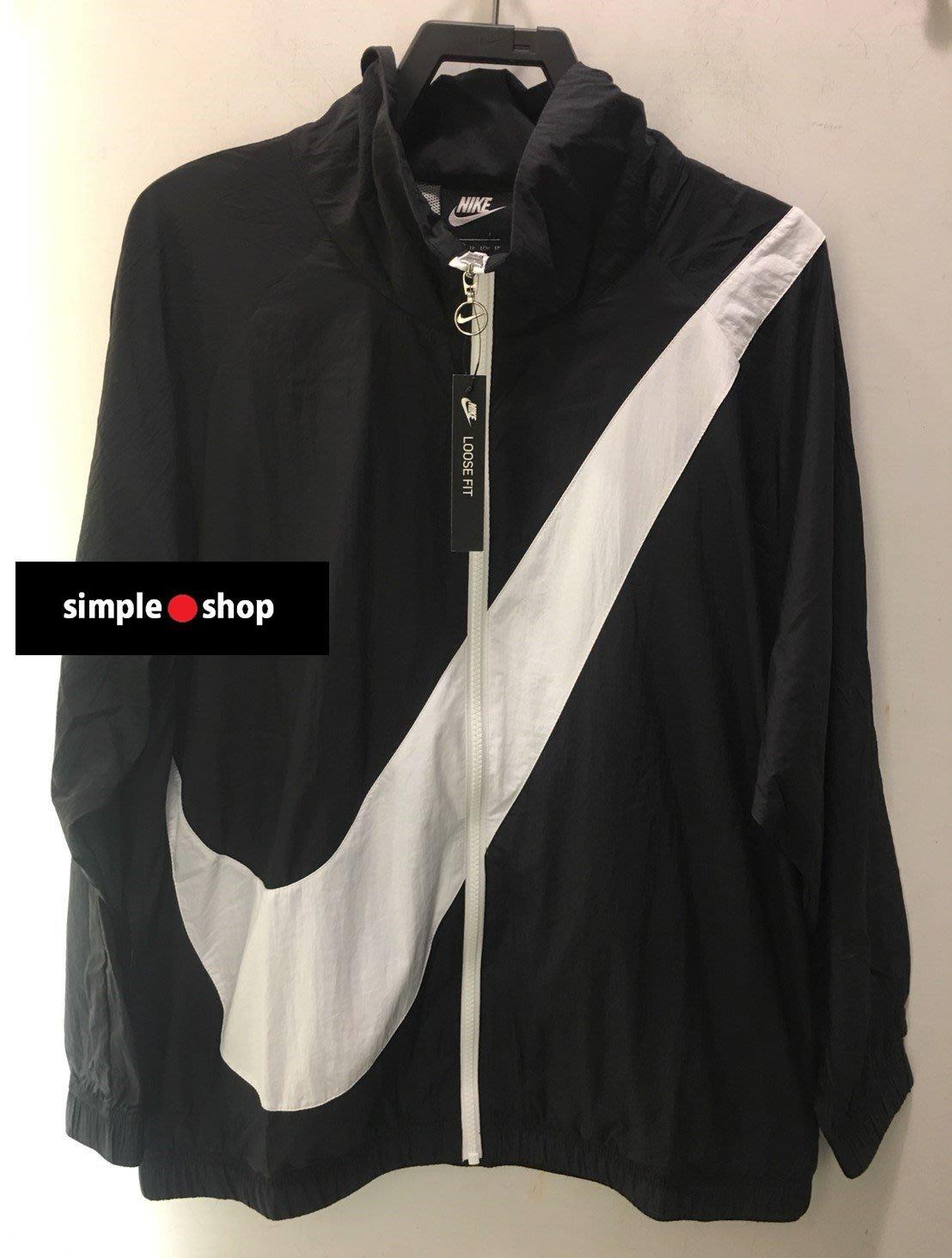 【Simple Shop】NIKE SWOOSH LOGO 大勾外套 風衣 運動外套 慢跑 女款 BV3686-011