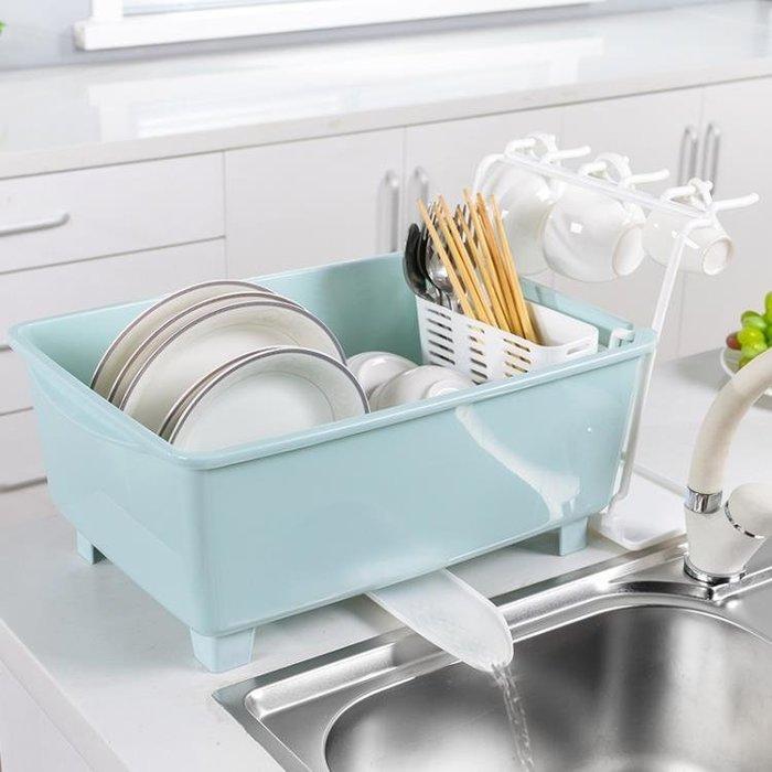 帶蓋廚房瀝水碗架柜子特大號抽屜式放碗筷收納盒塑料單雙層置物架TZ127