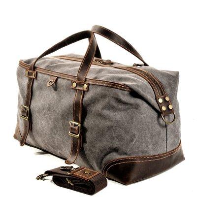 ~皮皮創~原創設計手作包。復古旅行包男出差手提包大容量旅遊行李運動健身包單肩斜背旅行袋