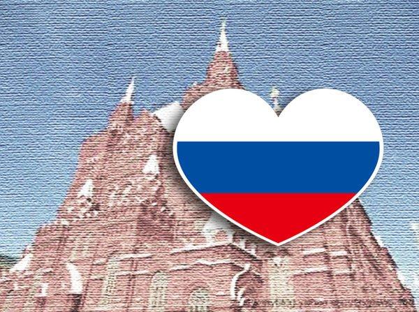 【衝浪小胖】俄國旗抗UV、防水愛心形登機箱貼紙/Russia/俄羅斯/各國都有販賣和客製