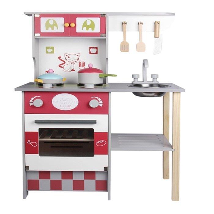 CHING-CHING親親-WOOD TOYS木製玩具組-美式廚房(MSN17062)