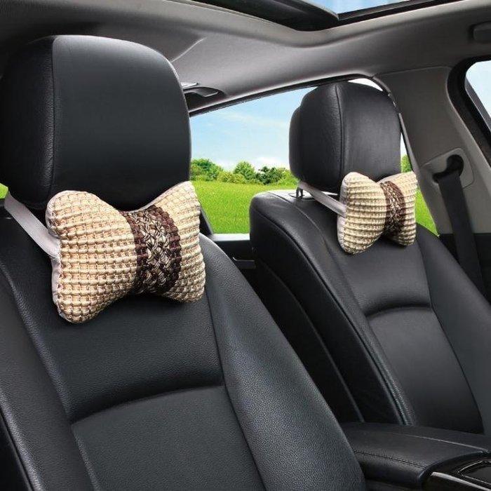 SOKA本鋪 汽車頭枕靠枕車用護頸枕頭一對安全車載內飾冰絲夏季四季SK65A