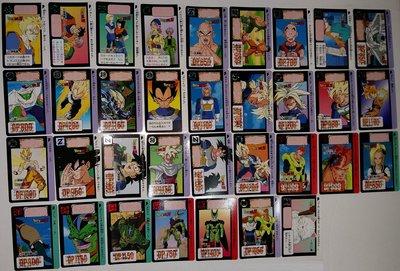 七龍珠 Dragonball 萬變卡 非金卡閃卡 13彈 日版普卡 34張 1992年 請看商品說明
