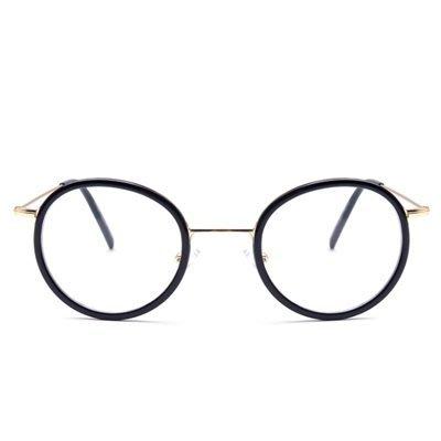 眼鏡 框 圓框 鏡架-文藝氣質復古時尚男女平光眼鏡5色73oe71[獨家進口][米蘭精品]