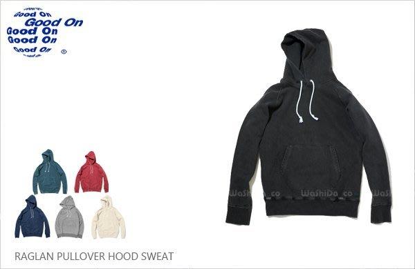 WaShiDa【gobw1203p】Good On 日本品牌 RAGLAN PULLOVER 洗舊 連帽 長袖 帽T