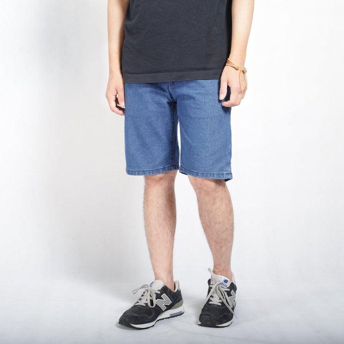 【Random】【復古水洗刷色牛仔短褲】水洗 古著  素面 牛仔短褲  28-36