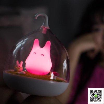 天蝸創意小夜燈插電床頭燈嬰兒喂奶燈觸碰感應小台燈充電