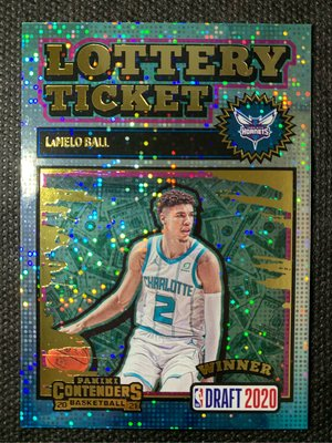 2020 Panini Contenders Lottery Ticket Lamelo Ball RC 新人 特卡