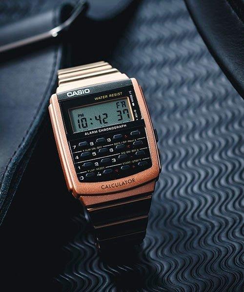 南◇2018 8月 CASIO 手錶 軍用錶 古銅色  玫瑰金 電子錶 卡西歐 計算機 DATA CA-506 不鏽鋼