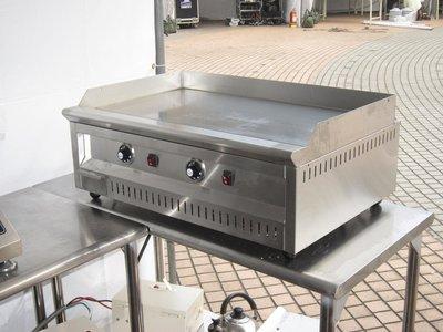 鑫忠廚房設備-餐飲設備:二手電力式桌上型溫控煎板爐 賣場有烤箱-水槽-西餐爐-冰箱