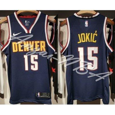 NBA 夢工廠-NBA球衣 Denver Nuggets丹佛金塊隊 Nikola Jokić 深藍球衣 籃球服-全隊都有