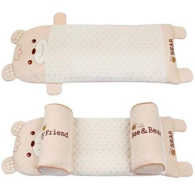 YEAHSHOP 嬰兒枕頭03個月防偏頭定型枕寶寶蕎麥皮枕新生兒013歲133650Y185