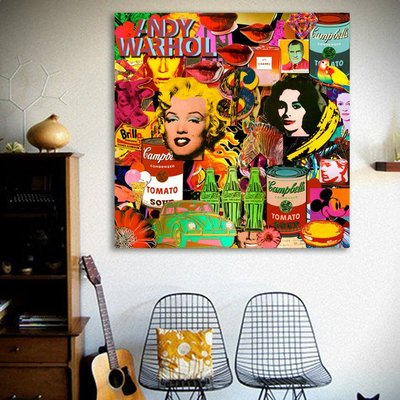 C - R - A - Z - Y - T - O - W - N  普普藝術 美式掛畫 客廳掛畫 現代創意設計玄關掛畫