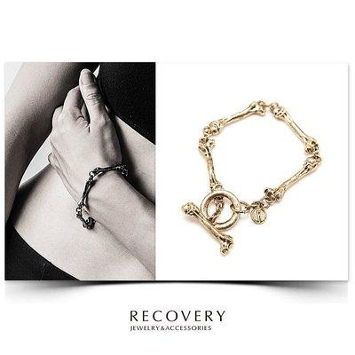 美國東村【Recovery 】Thigh Bone Bracelet(古銀/古金/黑銀) 骨頭手鍊 男女皆可佩帶