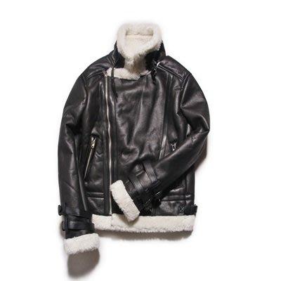皮衣 外套 皮夾克-皮毛一體加厚拉鍊男外套2色73ua17[獨家進口][米蘭精品]