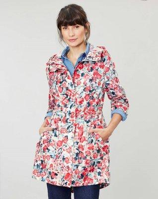 現貨 全新正品 joules 女  中長版 可收納 防水薄風衣、雨衣 UK 6、8